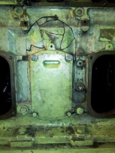 Assembly of Broken Pieces of Engine Block