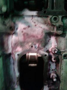 Engine Block Ready After Metal Stitching Process