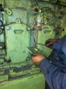Metal Locking of Engine Block in Process